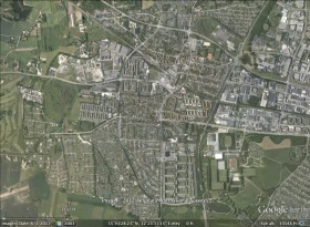 Ballerup, Denmark aerial. From Google Earth.