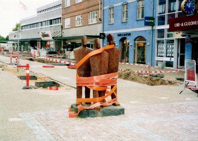 The Central Street in Ballerup, Denmark, under construction. From en.wikipedia.org/wiki/File:Centrumgaden.jpg.