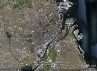 Copenhagen, Denmark aerial. From Google Earth.