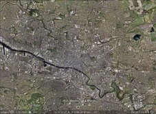 Glasgow, Scotland aerial. From Google Earth.