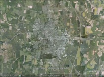 Hjørring, Denmark aerial. From Google Earth.