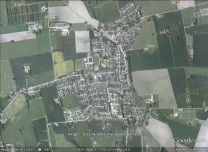 Hørve, Denmark aerial. From Google Earth.