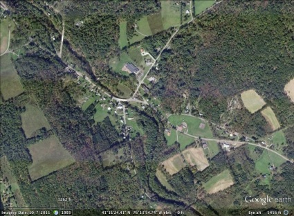 Huntington, Pennsylvania aerial. From Google Earth.
