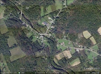 Huntington, Pennsylvania aerial. From Google Earth.