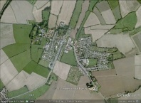 Laughton-en-le-Morthen, England aerial. From Google Earth.