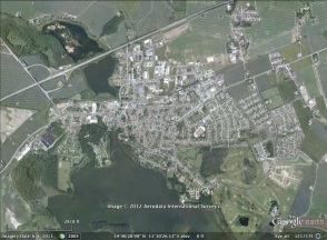 Maribo, Denmark aerial. From Google Earth.
