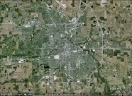Muncie, Indiana aerial. From Google Earth.