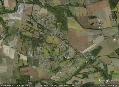 Springfield, New Jersey aerial. From Google Earth.