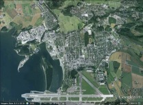 Stjørdal, Norway aerial. From Google Earth.
