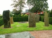 Runestones in Vestermarie, Denmark.